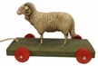 Pull Toy Ram Paper Mache Figurine by Marolin by Marolin
