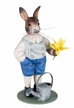Rabbit with Watering Can Paper Mache Figurine by Marolin