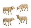 Group of 4 Sheep Paper Mache Figurines by Marolin by Marolin