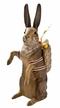 Large Rabbit with Basket Paper Mache Candy Container by Marolin