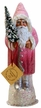 Santa Faded Rose Paper Mache Candy Container by Ino Schaller