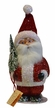 Santa Chubby, Red, Soft Cap Paper Mache Candy Container by Ino Schaller
