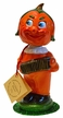 Pumpkin Nodder with Orange Pants Paper Mache figurine by Ino Schaller