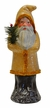 Beige Glittered Santa with Chenille Trim Paper Mache Candy Container by Ino Schaller