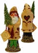 Amish Decorated Santa, One of a Kind Paper Mache Candy Container by Ino Schaller