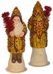 Fancy Star Decorated Santa with Red Tree, One of a Kind Paper Mache Candy Container by Ino Schaller