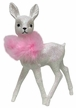White Deer with Pink Boa, Glittered Plastic Figurine by Ino Schaller