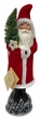 Flocked Santa Paper Mache Candy Container by Ino Schaller