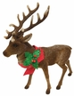 XL Reindeer with Holly, Flocked Plastic Figurine by Ino Schaller