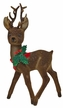 Reindeer with Holly, Flocked Plastic Figurine by Ino Schaller