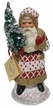 Red and White Santa, One of a Kind Paper Mache Candy Container by Ino Schaller