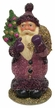 Lilac Santa, One of a Kind Paper Mache Candy Container by Ino Schaller