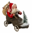 Santa Sitting in Shoe with Wheels Paper Mache Figurine by Marolin