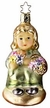 In The Garden Girl with Flowers - Life Touch Ornament by Inge Glas