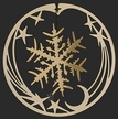 Snowflake on Comet Gold Plated Ornament by Martin Schmidt OHG in Schwabisch Gmund