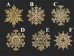 Gold Plated Snowflake Ornament by Martin Schmidt OHG in Schwabisch Gmund - $8.50 Each