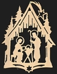 Gold Plated Nativity Ornament by Martin Schmidt OHG in Schwabisch Gmund