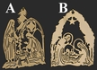 Gold Plated Nativity Ornament by Martin Schmidt OHG in Schwabisch Gmund - $11 Each