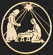Gold Plated Holy Family Ornament by Martin Schmidt OHG in Schwabisch Gmund