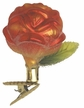 Kissed By Flames Rose Ornament by Inge Glas