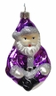 Purple Sitting Santa Ornament by Hausdörfer Glas Manufaktur