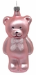 Pink Teddy Bear Ornament by Hausdörfer Glas Manufaktur