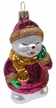 Sleepy Snowman Ornament by Hausdörfer Glas Manufaktur