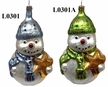 Large Snowman with Star Ornament by Hausdörfer Glas Manufaktur