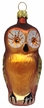 Owl, Golden Brown Ornament by Hausdörfer Glas Manufaktur