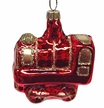 Train, Small, Red Ornament by Hausdörfer Glas Manufaktur