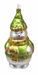 Large Green Snowman, Ornament by Hausdörfer Glas Manufaktur