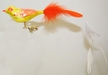 Yellow and Orange Bird Ornament by Hausd�rfer Glas Manufaktur