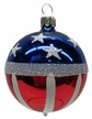 Patriotic Ball Ornament by Hausdörfer Glas Manufaktur