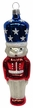 Red, White & Blue Nutcracker Ornament by Hausdörfer Glas Manufaktur