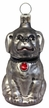 Small Dog, Gray Ornament by Hausdörfer Glas Manufaktur