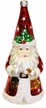 Painted Face Santa with Lantern & Bell Ornament by Hausdörfer Glas Manufaktur