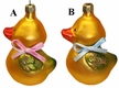Gold Duck with Bow Ornament by Hausdörfer Glas Manufaktur