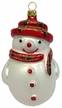 Plaid Snowman Ornament by Hausdörfer Glas Manufaktur