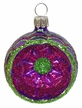 Small Purple Reflector Ornament by Hausdörfer Glas Manufaktur
