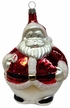 Large Santa with Candy Cane Ornament by Hausdörfer Glas Manufaktur