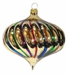 Gold Rainbow Drop Ornament by Hausdörfer Glas Manufaktur