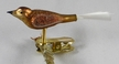 Mini Bird with Fiber Tail, Bronze Ornament by Glas-Bartholmes