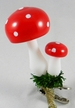Double Mushroom on Clip Ornament by Glas-Bartholmes