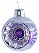 Purple & White Ball with One Indent Ornament by Glas-Bartholmes