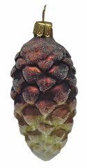 Green and Brown Pinecone Ornament by Glas-Bartholmes