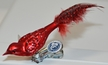 Mini Guinea Fowl, Red Ornament by Glas-Bartholmes