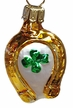Small Horseshoe with Shamrock Ornament by Glas-Bartholmes