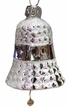 Silver Waffled Bell Ornament by Glas-Bartholmes