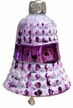 Purple Waffled Bell Ornament by Glas-Bartholmes