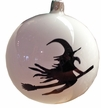 Halloween Ball with Witch Ornament by Glas-Bartholmes